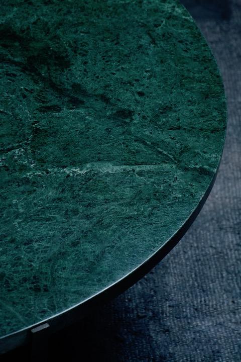 Authentic Bazar- Table basse marbre vert Gaia