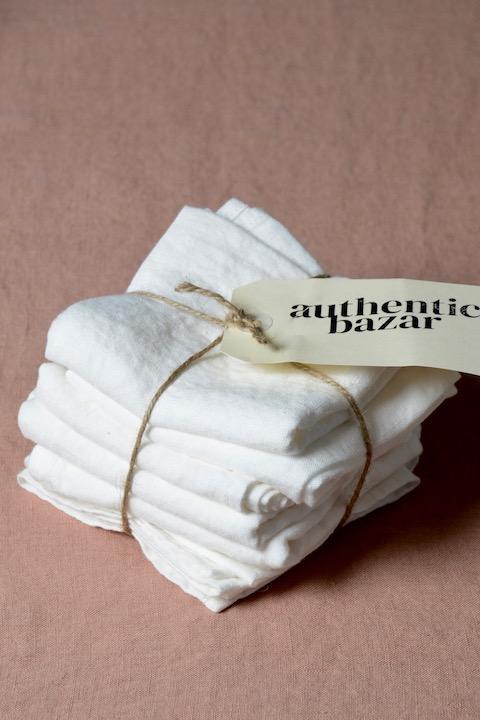 Serviettes de table en lin lavé