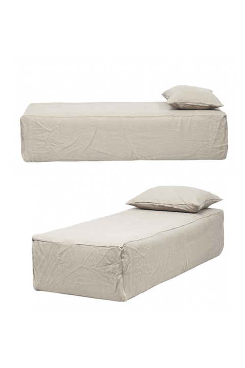 Daybed Slow Dream En Lin Froissé Bed, Daybed Queen Size Bed
